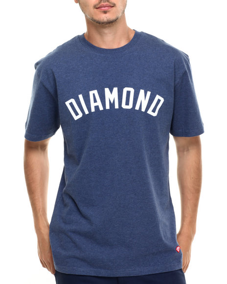Diamond Supply Co - Men Navy Diamond Arch Tee