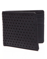 Men - Perforated Leather Bi-Fold Wallet