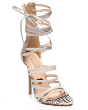Fashion Lab - Chic & Classy Strappy Open Toe Heel