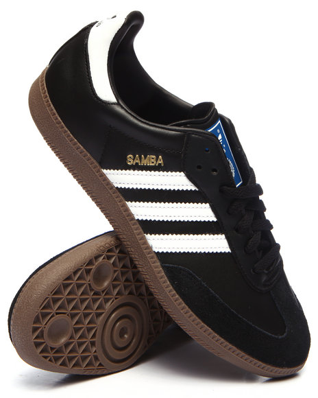 Adidas Men Samba Leather Sneakers Black 8.5