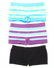 Panties - Jacquard Stripe 3Pk Seamless Shorts