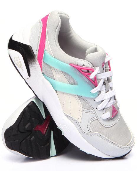 Puma - Girls Grey R698 Mesh Neoprene Jr Sneakers (11-7)