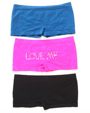 Women - Love Me Rhinestones 3Pk Seamless Shorts