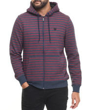 Zoo York - Padington Sherpa - Lined Striped Zip - Up Hoodie