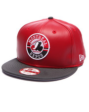 Men - Montreal Expos faux red leather Snapback hat