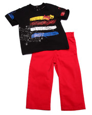 Sets - 2 PC SET - KING TEE & TWILL PANTS (INFANT)