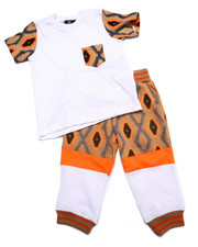 Boys - 2 PC SET - AZTEC POCKET TEE & JOGGERS (2T-4T)