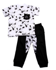 Boys - 2 PC SET - SPLATTER TEE & JOGGERS (2T-4T)