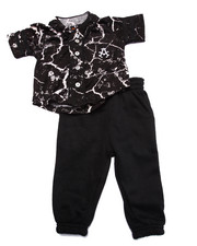 Sets - 2 PC SET - MARBLE BASEBALL WOVEN & JOGGERS (INFANT)