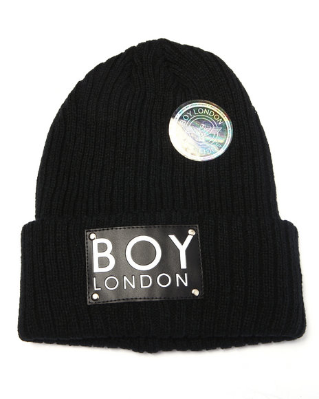 Boy London Women Boy London Patch Beanie Black - $48.00