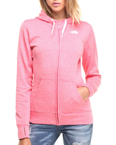 The North Face - Women Pink Women's Fave Full Zip Hoodie
