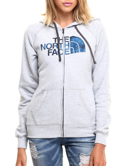 The North Face - Women Grey,Grey Women's Intangible Logo Full Zip Hoodie