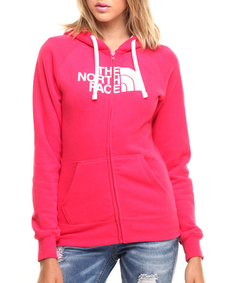 The North Face - Women Pink Women's Half Dome Full Zip Hoodie