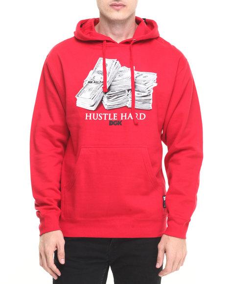 Dgk Men Racks Pullover Fleece Hoodie Red X-Large