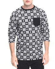 DGK - Checkers Custom 3/4 Sleeve Pocket Knit Tee