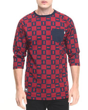 Men - Checkers Custom 3/4 Sleeve Pocket Knit Tee