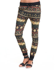 Women - Tribal Print Twill Jogger