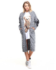 Joyrich - Blended Knit Zip-Up Long Cardi