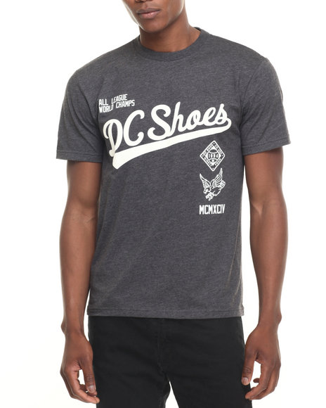 Dc Shoes - Men Charcoal Pitcher Tee
