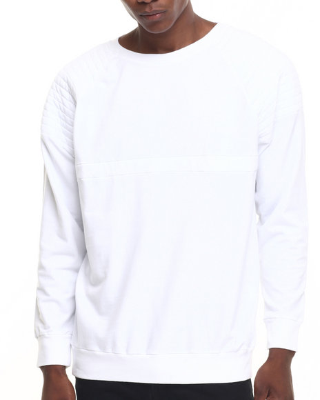 Antioch - Men White Jersey Spock Quilt Sweatshirt - $84.99