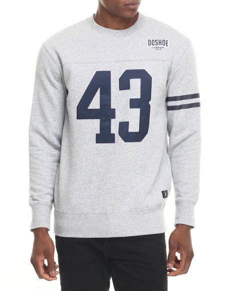 Dc Shoes - Men Grey Willingdon Crew Sweatshirt