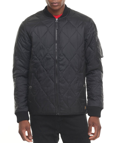 Dc Shoes Men Bombing Quilted Jacket Black XLarge
