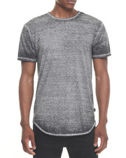Men - ESSENTIALS BURN-OUT TERRY ELONGATED S/S TEE