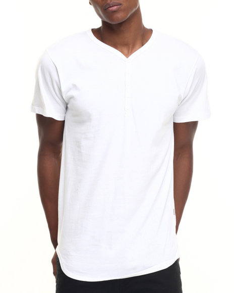 Eptm. - Men White 5 - Button Long S/S Henley