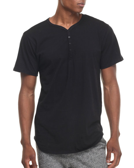 Eptm. - Men Black 5 - Button Long S/S Henley