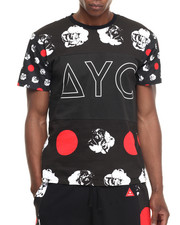 Men - Polka Dot Rose Print Block Tee