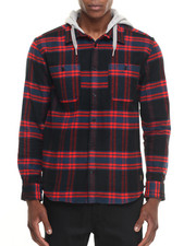 Men - Hood Up LS Flannel Shirt