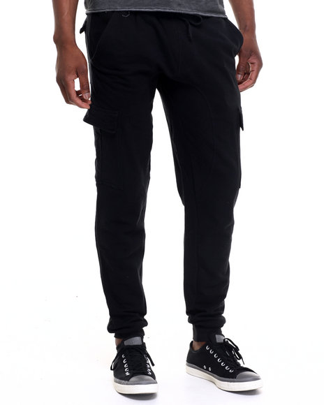 Black Cargo Pants for Men