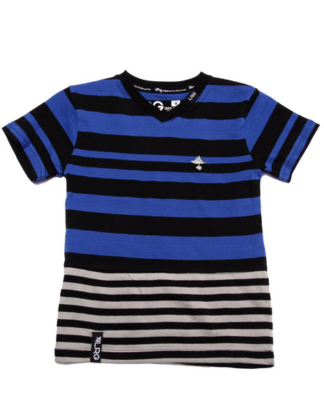 Lrg - Boys Blue Retro Revival Striped Tee (4-7)