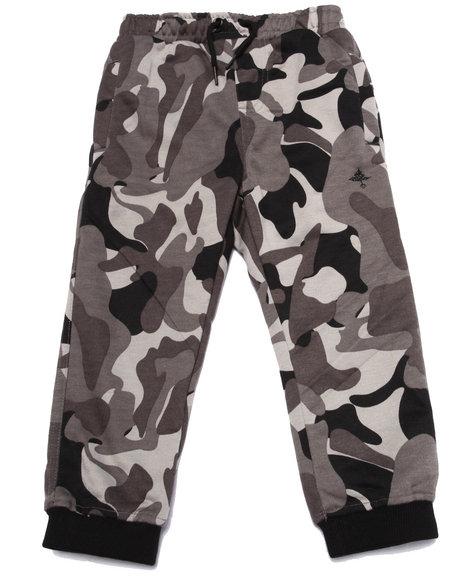 Lrg - Boys Black Tree Tracker Camo Fleece Pant (4-7)