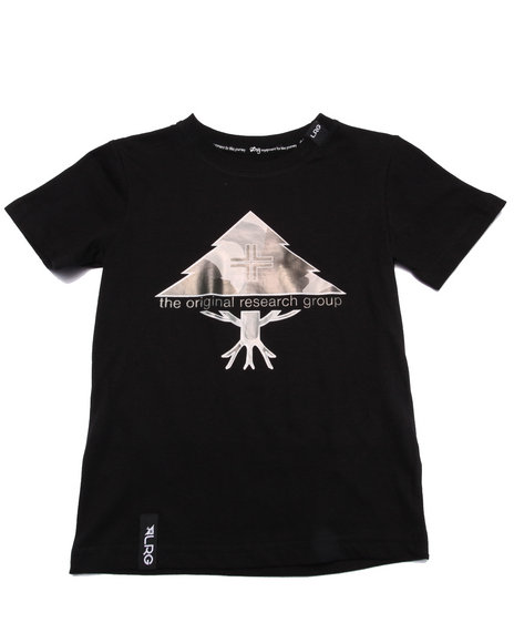 Lrg - Boys Black Research Tree Tee (4-7)