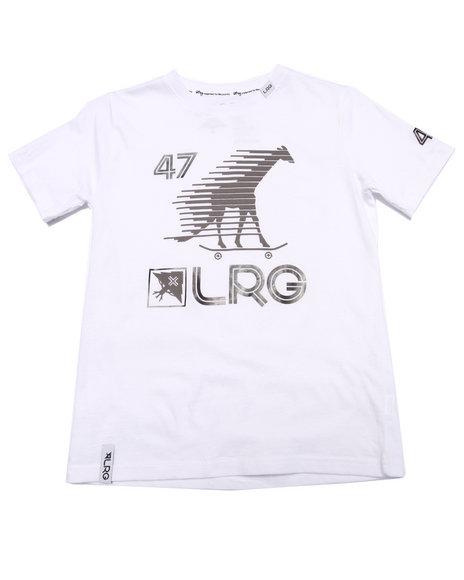 Lrg - Boys White Skate Giraffe Sport Tee (8-20)