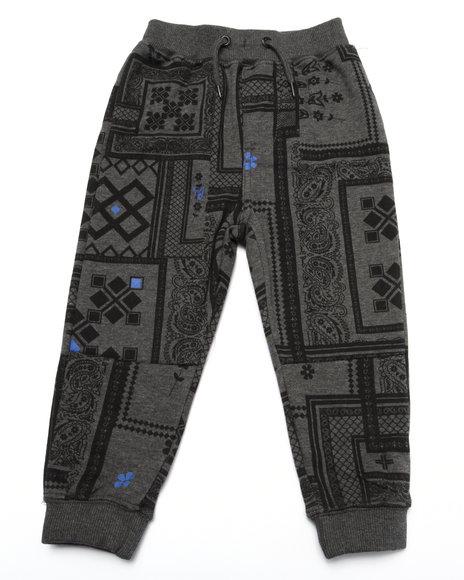 Lrg - Boys Grey Bandana Joggers (2T-4T)