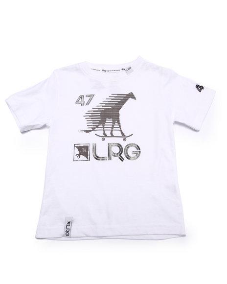 Lrg - Boys White Skate Giraffe Sport Tee (4-7)