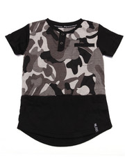 Boys - TREE TRACKER CAMO HENLEY (2T-4T)