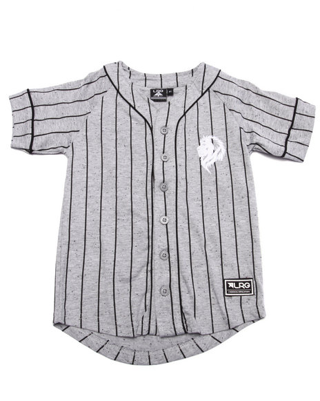 Lrg - Boys Grey Baseball Jersey (2T-4T)