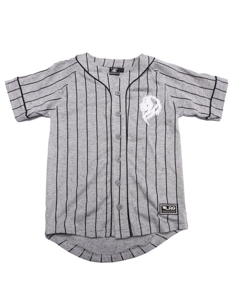 Lrg - Boys Grey Baseball Jersey (4-7)
