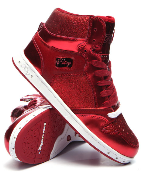 Pastry - Women Red Glam Pie Glitter Sneaker