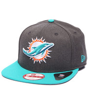 Men - Miami Dolphins NFL Stock Heather Graphite Team 9Fifty Snapback Cap