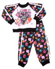 Girls - 2 PC FLORAL JOGGER SET (2T-4T)