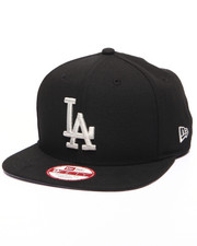 Men - Los Angeles Dodgers MLB Stock Black Metallic Silver 9Fifty Snapback Cap