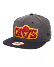 Men - Cleveland Cavaliers NBA Hardwood Classics Stock Heather Graphite Team 9Fifty Snapback Cap