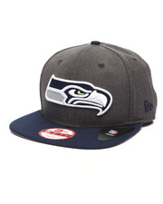 Men - Seattle Seahawks NFL Stock Heather Graphite Team 9Fifty Snapback Cap