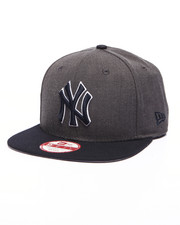 Men - New York Yankees MLB Stock Heather Graphite Team 9Fifty Snapback Cap