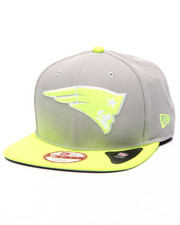 Men - New England Patriots NFL Stock Gray Upright Yellow 9Fifty Snapback Cap