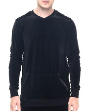 Men - Black Velour Sweatshirt